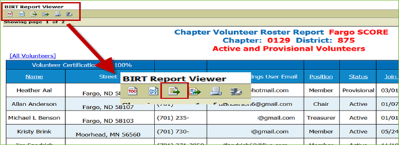 How to Export Data from BIRT Reports – SCORE Help Desk